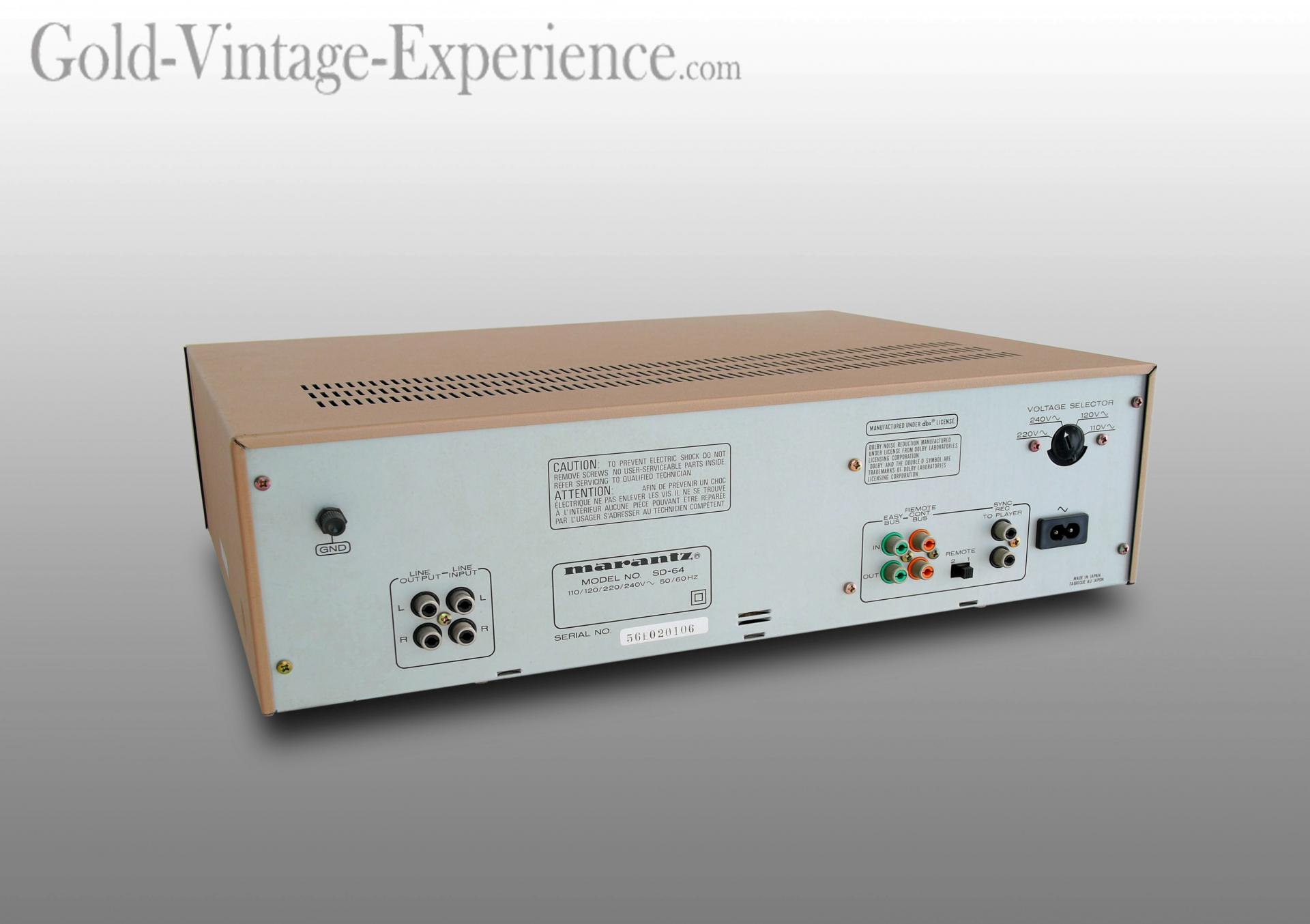 Marantz sd 64 back