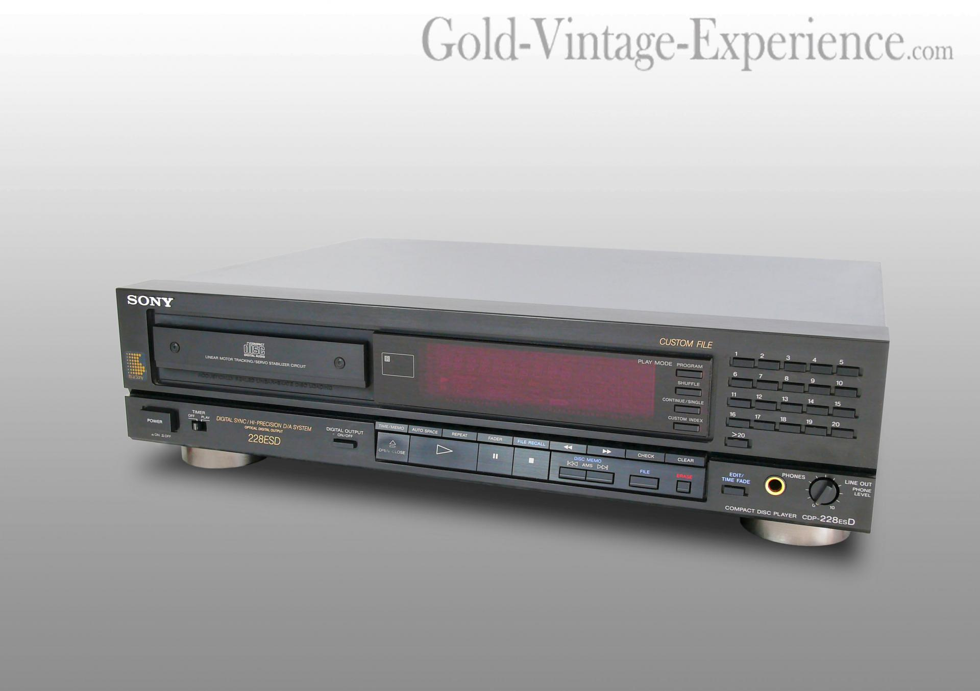 Sony cdp 228 esd