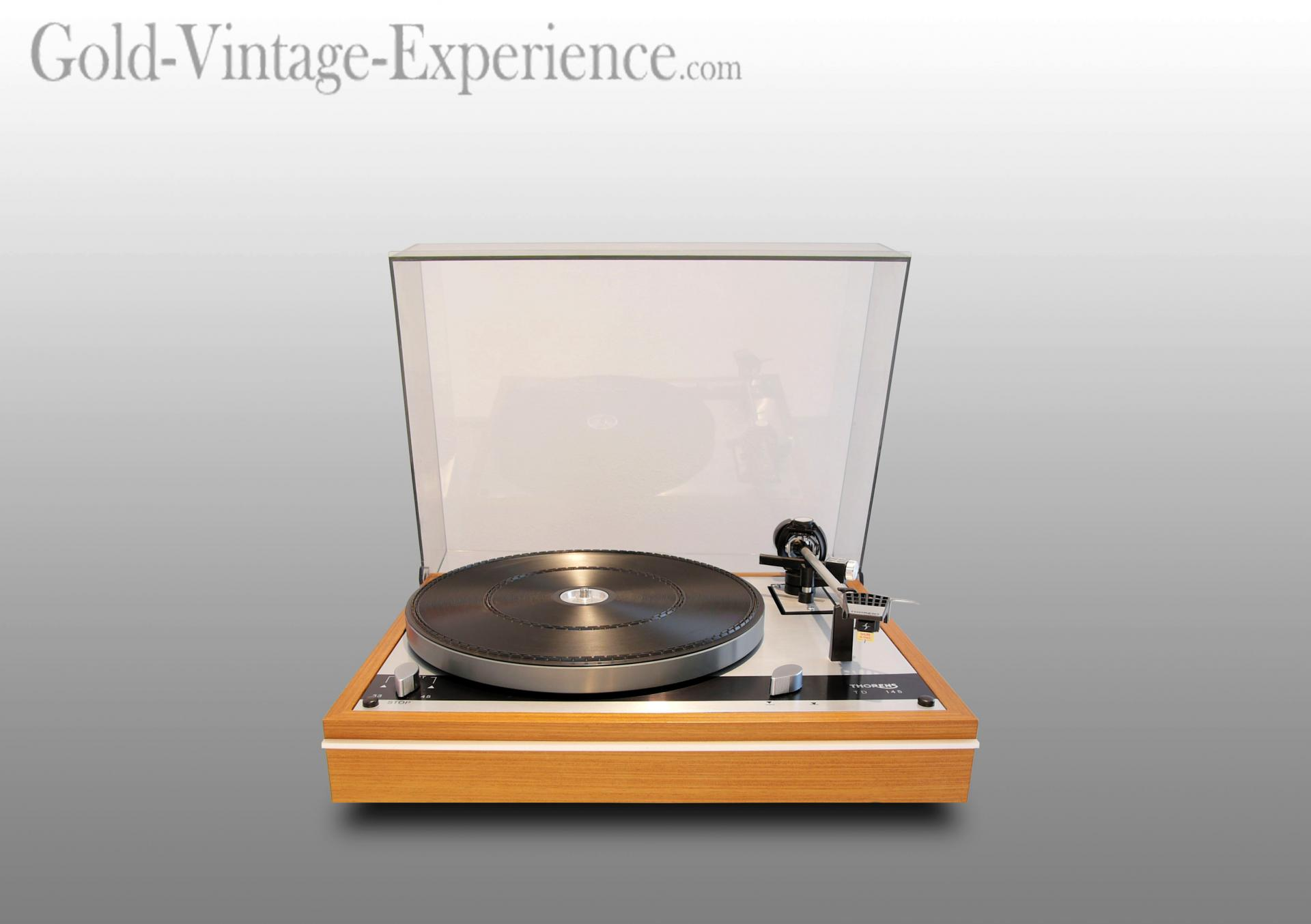 platine vinyle vintage thorens td 145 cellule shure 1976. Black Bedroom Furniture Sets. Home Design Ideas